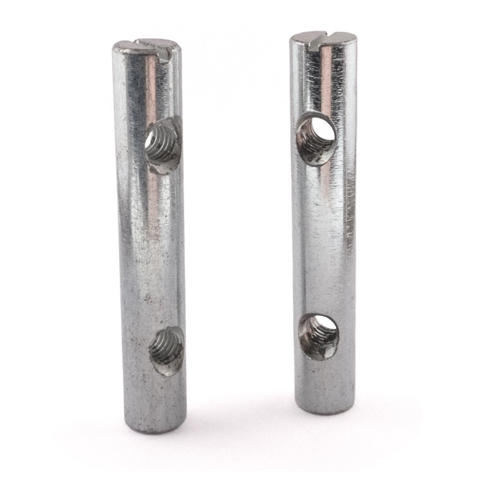 Cross Dowel Barrel Nuts, Zinc, Two Holes, M6 x 60, Pack of 20