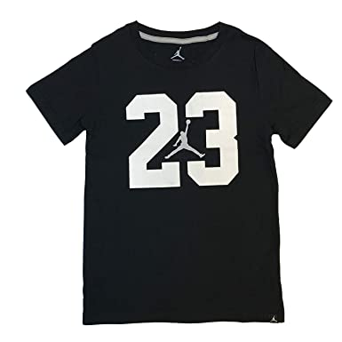 first rate 4beb8 5b8bc Nike Air Jordan Jumpman Big Boys 23 Jumpman T Shirt (X-Large, Black
