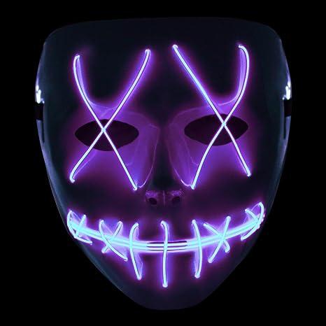 famoso marchio di stilisti pacchetto elegante e robusto negozi popolari Ankuka, maschera spaventosa con LED lampeggiante, 3 modalità ...