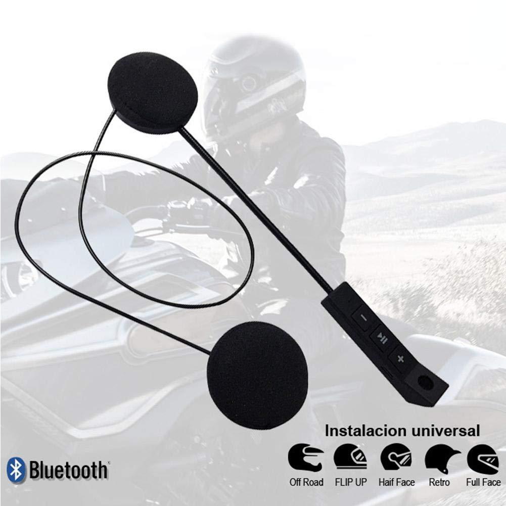 lingzhuo-shop Auricolare Bluetooth per Casco Moto Kit Vivavoce per Sistemi di Comunicazione Interfono Vivavoce Anti-interferenza con Pulsanti Grandi Compatto con Altoparlanti Cuffie per Moto Sci