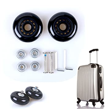 Ruedas de recambio para maleta de Fresh 66 un par, de metal y goma: Amazon.es: Deportes y aire libre