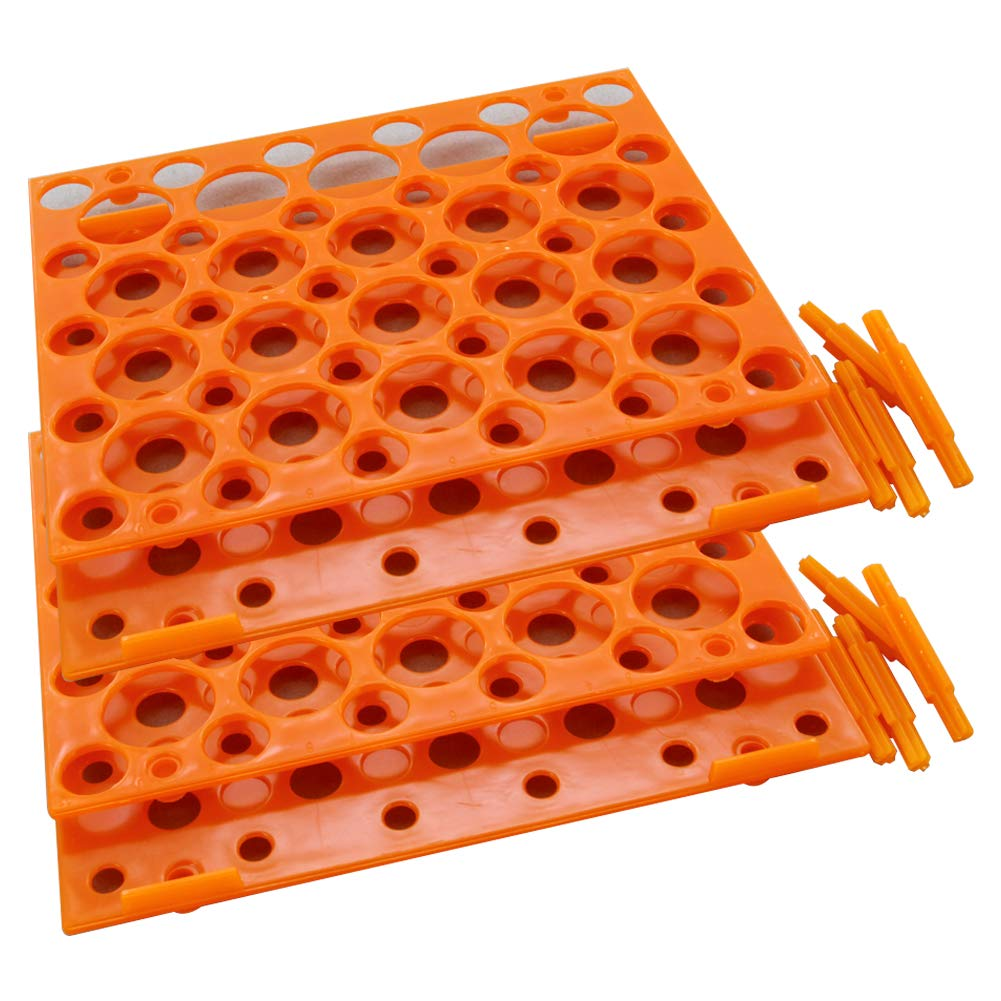 Othmro Laboratory Test Tubes Rack Rectangular Test Centrifuge Tube Holder Rack 15cmx15cmx5.5cm 1pcs