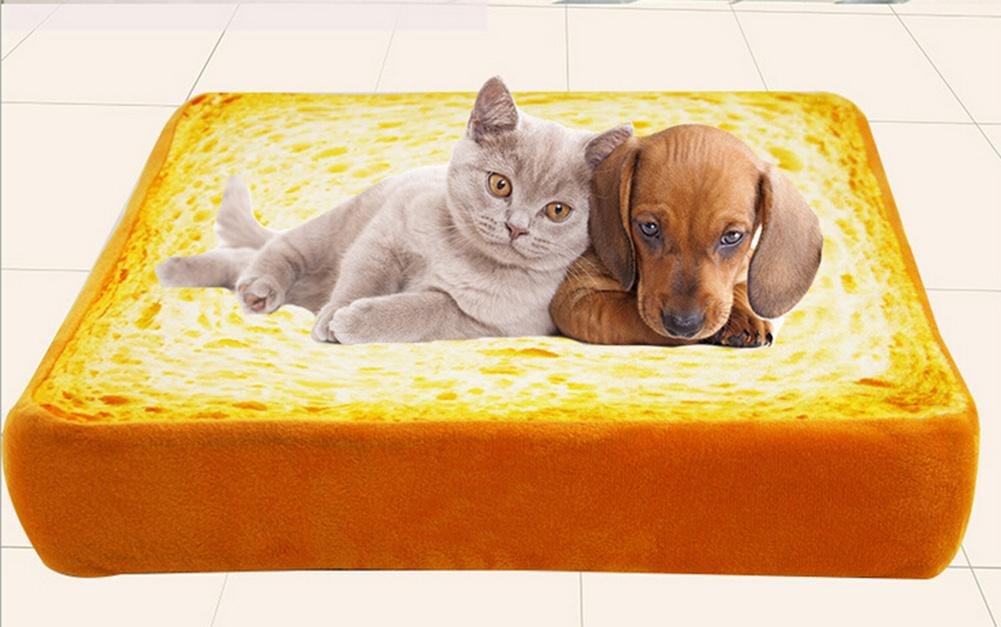 M CutePet Dog Bed, Pet Bed Removable, Washable Bread Modeling RE-001, m