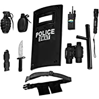 Dress Up America All in One Police Officer Role Play Set for Kids - Inclusief Swat Shield, verstelbare riem, zaklamp en…