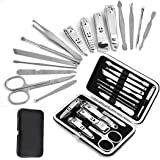 feriay 15Pcs Stainless Steel Nail Clippers Useful Manicure Tools Set