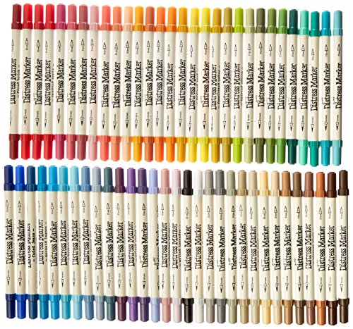 Ranger TDMK50070 Tim Holtz Distress Markers Tube Set (61 Pack), Multicolor by Ranger