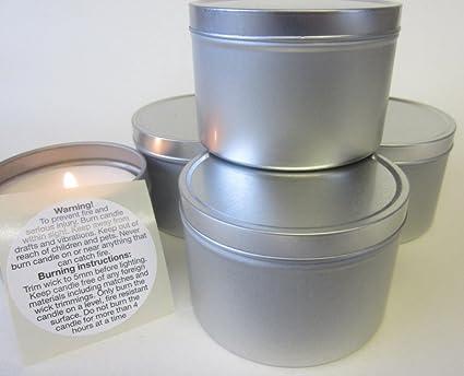 6 x 150 gramo para hacer velas de encendido moldes de aluminio con tapa. Completo