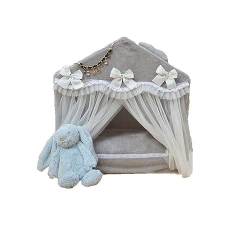FH Perrera Washable Pet Waterloo Versión Coreana Pet House Teddy Bichon Preciosa Princesa Cama Casetas para