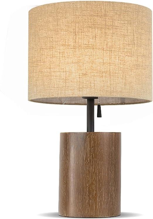 JJJJD Lámpara de mesa Dormitorio Lámpara de Noche Creativo Simple ...