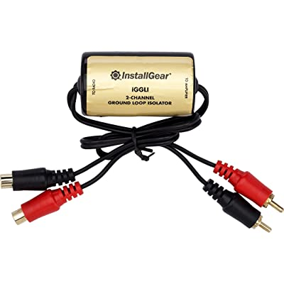 InstallGear Ground Loop Isolator Amp Noise Filter: Car Electronics