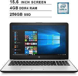 2020 Flagship HP 15 15.6 Inch Laptop (Intel Dual Core i3-7100U 2.4 GHz, 4GB DDR4 RAM, 256GB SSD, Intel UHD 620, WiFi, HDMI, Bluetooth, Windows 10) (Silver)