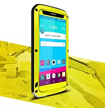 Carcasa para LG G4 de aluminio, impermeable, resistente a golpes y polvo, con protector resistente de cristal gorilla