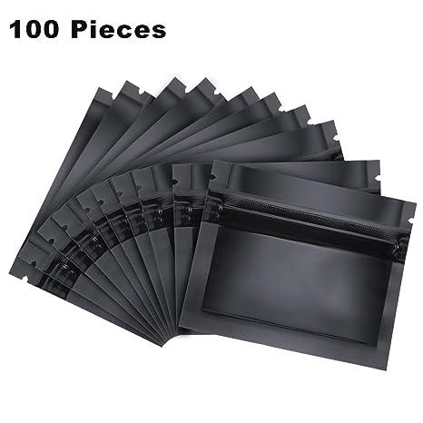 Amazon.com: 100 bolsas de papel de aluminio con cierre ...