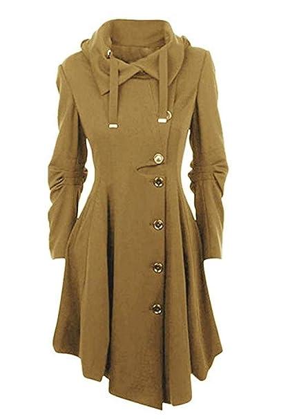 Damen Gotik Elegant Winter Mantel Lang Kleid Vertvie WHEbYD9eI2