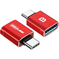 BrexLink USB C to USB 3.0 Adapter (2 Pack), USB Female to USB C Male Adapter OTG,USB Type C to USB for iPad Pro MacBook…