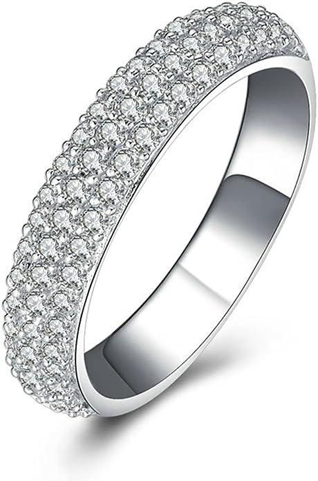 Amazon Com Knsam 3 Rows Wedding Bands 67 Pcs Rhinestone S925