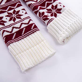 2f331be44ff Women Christmas Warm Thigh High Long Stockings Knit Over Knee Woolen Socks  (Wine)