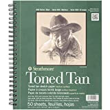 "Strathmore 412-9  400 Series Toned Tan Sketch Pad, 9""x12"" Wire Bound, 50 Sheets"