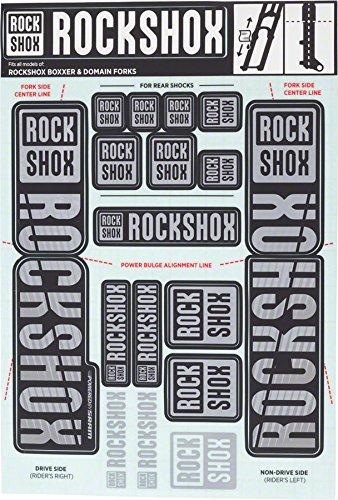 RockShox Decal Kit 35mm Dual Crown Gray