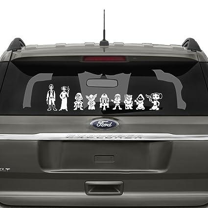 Star wars family car decal white 7 h x 30 w