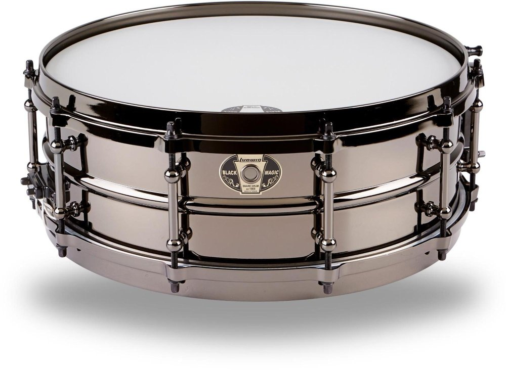 Ludwig Black Magic Snare Black 5X14 by Ludwig