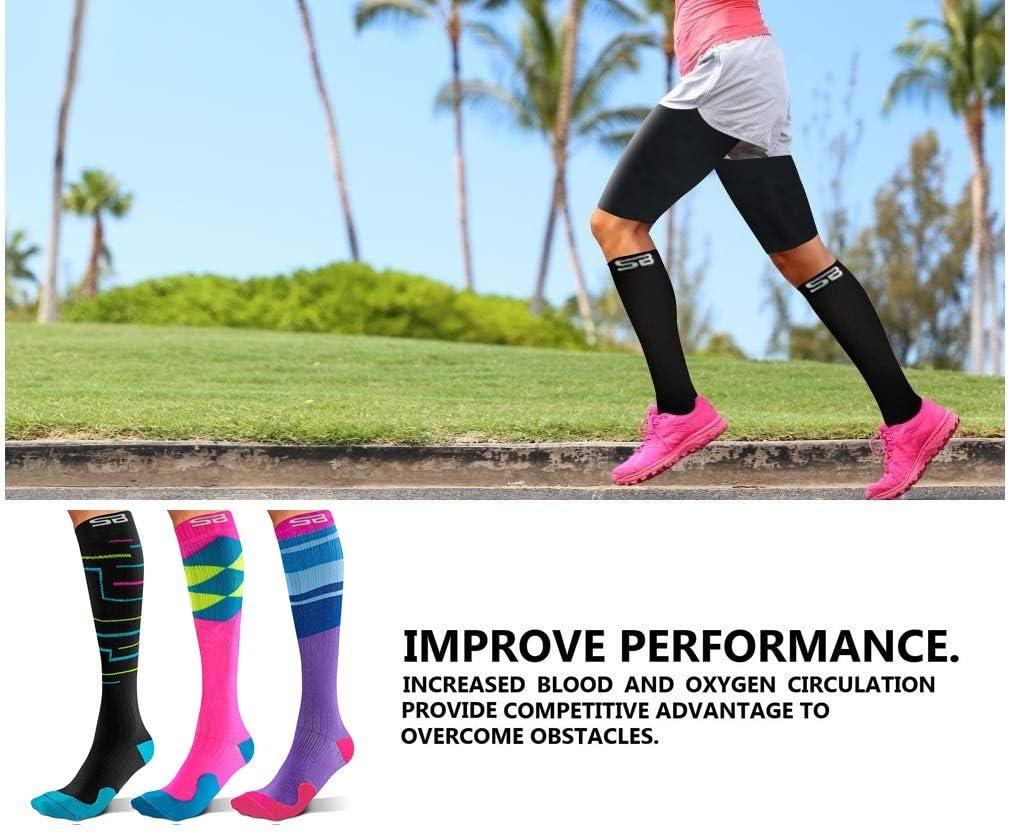 for Men /& Women SB SOX 3-Pair Compression Socks 15-20mmHg Best Socks for Daily//Any Use Easy to Put On Comfortable Socks Running Nurse Travel