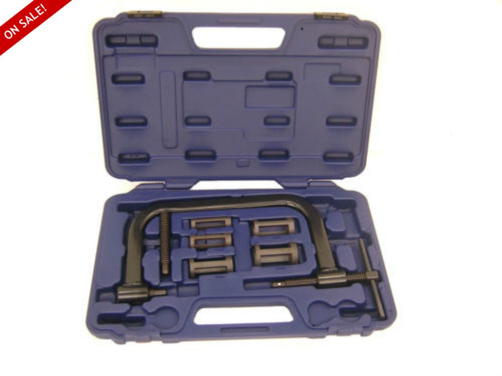 Spring Compressor Tool Motorcycle ATV Car Valve Spring Heavy Duty Construction Carrying Case Included Complete Set - Skroutz