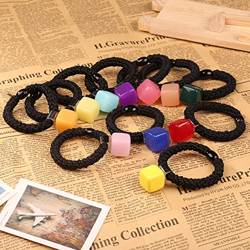 Chinatera Sweet Korean Style Jelly Candy Color Square Hair Rope Headband Hair Band