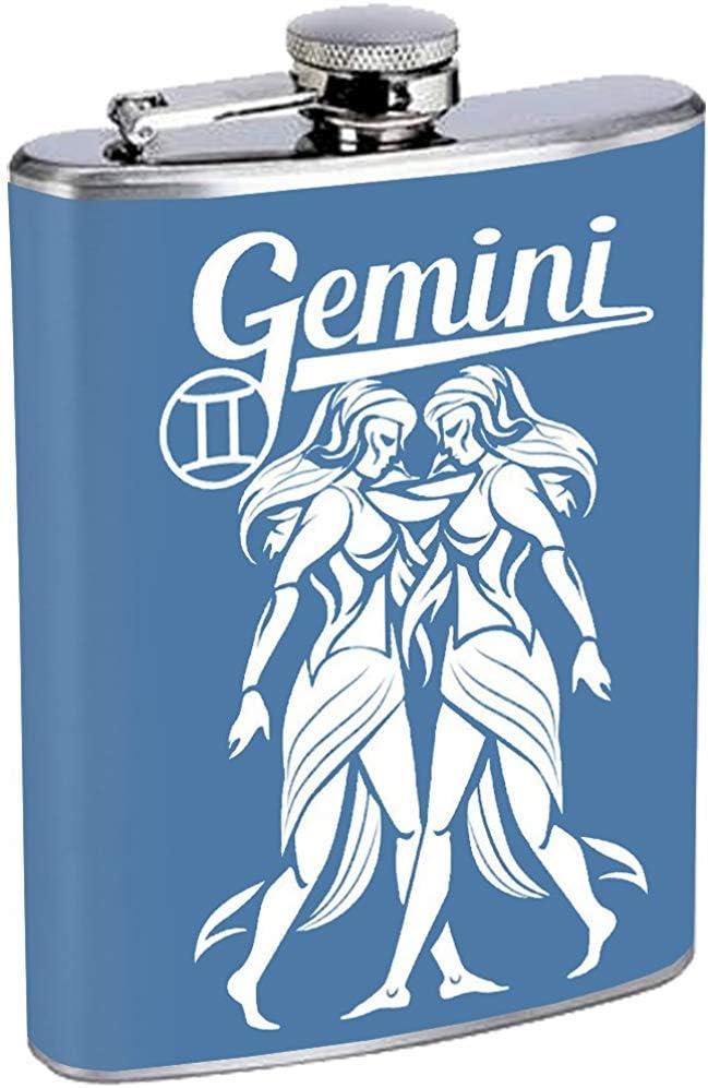 Géminis Signo Astrológico Horóscopo Frasco Acero Inoxidable Beber Whisky
