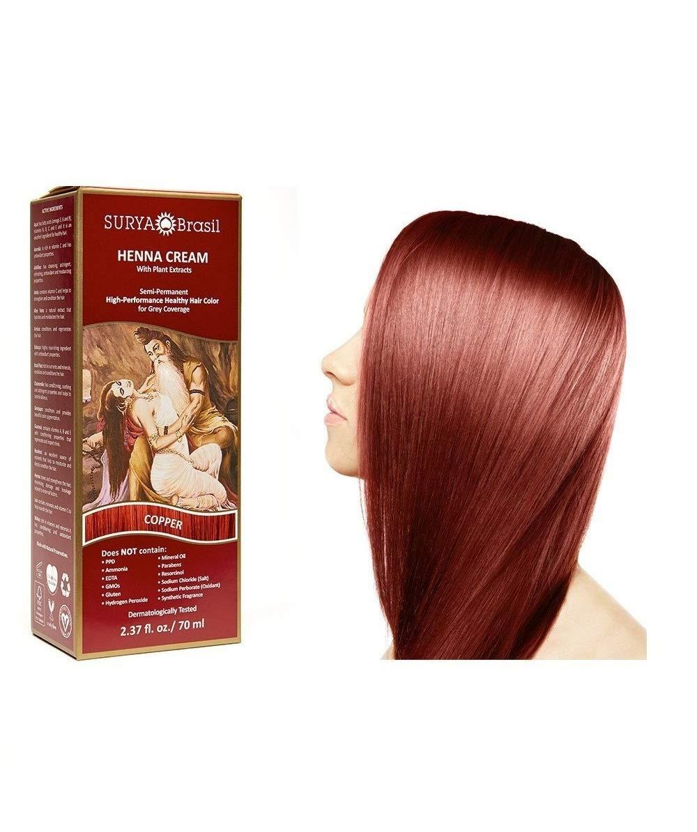 Surya Brasil Products Henna Cream, Copper, 2.37 Fluid Ounce by Surya Brasil Products