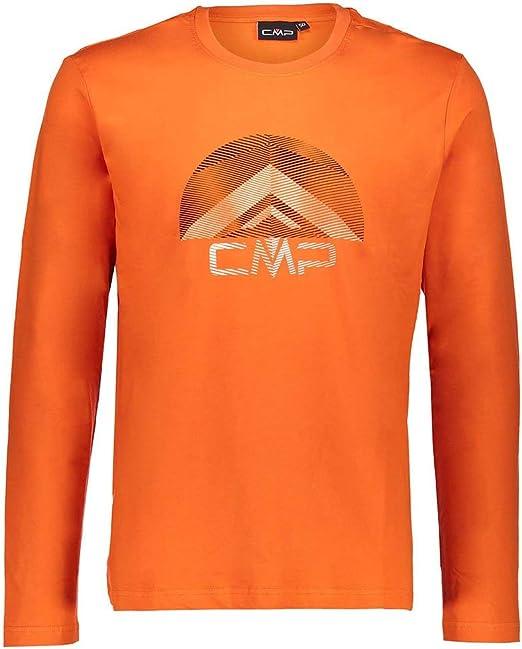 CMP Longsleeve Shirt MAN T-SHIRT grün Fotoprint Jersey bedruckt