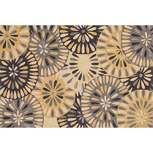 Loloi Rugs, Gabriella Collection - Grey / Gold Area Rug, 3'-6