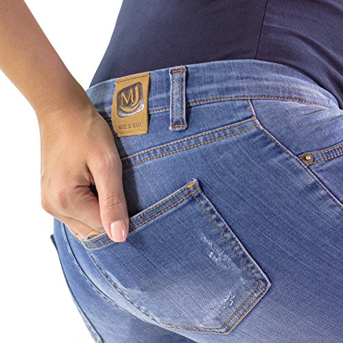 MamaJeans - Rimini Skinny Fit Maternity Jeans Made in Italy, Size - 32 by MamaJeans (Image #4)