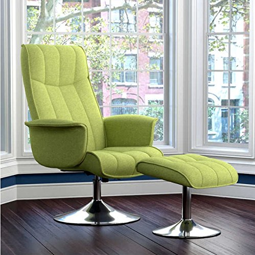 Stella Adjustable Rocker Recliner 360 Degrees Swivel with Molded Seat and Back and Ottoman Filled with High Density Foam - Kiwi Green Stylish and Chic, Modern Contemporary but Elegant Design price