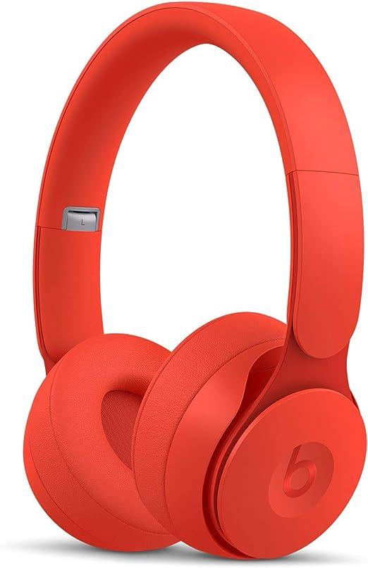 Beats Solo Pro con cancelación de ruido - Auriculares supraaurales inalámbricos - Chip Apple H1, Bluetooth de Clase 1, 22 horas de sonido ininterrumpido - Colección More Matte - Rojo: Beats: Amazon.es