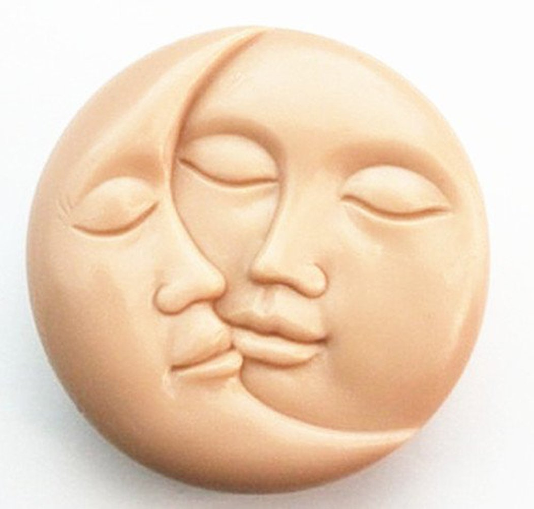 Yunko Sun and Moon Face Soft Silicone Craft Art Silicone Soap Mold Craft Moulds DIY Handmade Soap Molds