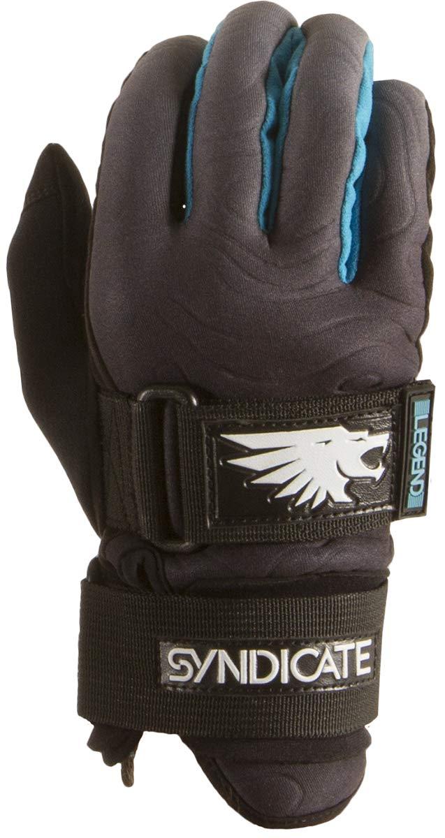 Ho Men's Syndicate Legend Waterski Glove Black/Aqua (XL)