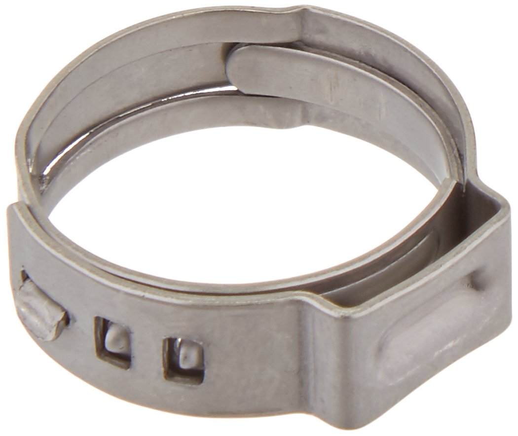 Oetiker 16700020 Stepless Ear Clamp, One Ear, 7 mm Band Width, Clamp ID Range 15.3 mm (Closed) - 18.5 mm (Open) (Pack of 10) OET185 x 10