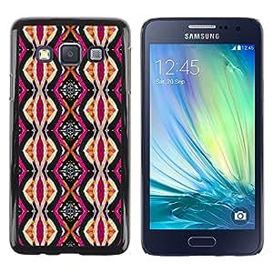 TopCaseStore / la caja del caucho duro de la cubierta de protección de la piel - Ethnic Culture Pink Vertical - Samsung Galaxy A3 SM-A300