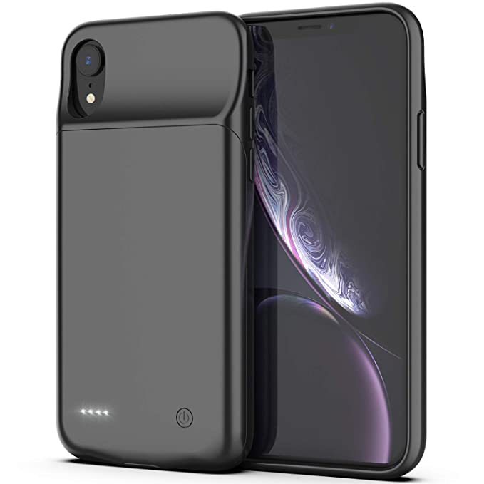 uk availability f3a07 eb8e1 iPhone XR Battery Case, Maiphee 4000mAh Portable Protective Charging Case  Rechargeable Extended Battery Pack Charger Case Compatible with iPhone XR  ...
