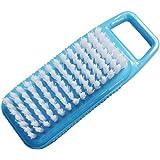オーエ 手洗いしま専科 爪ブラシ 台紙付き ブルー 11×4.2×3cm 手指 爪の間の汚れをブラシでしっかりかき落とす
