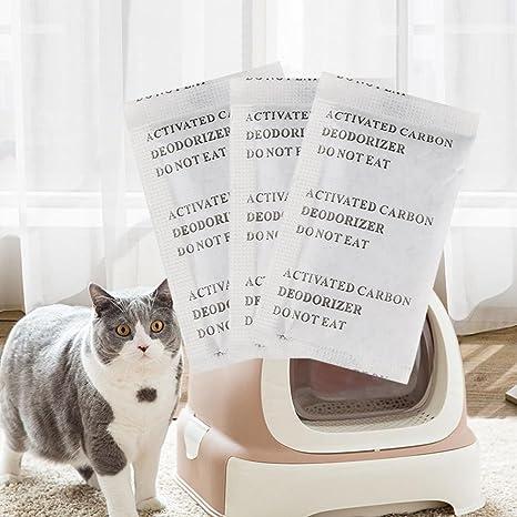 arvin87lyly filtro de carbón activo de carbono desodorización gato del paquete dispersa Platillos para inodoro Deo