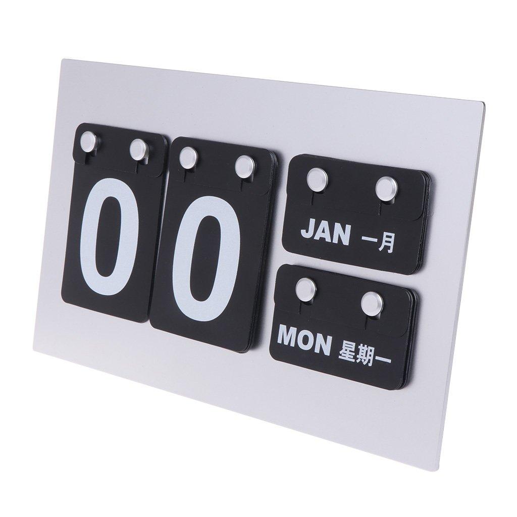 YHSUN DIY Modern Desk/Wall Perpetual Calendar Card Simple Style Office School Supplies
