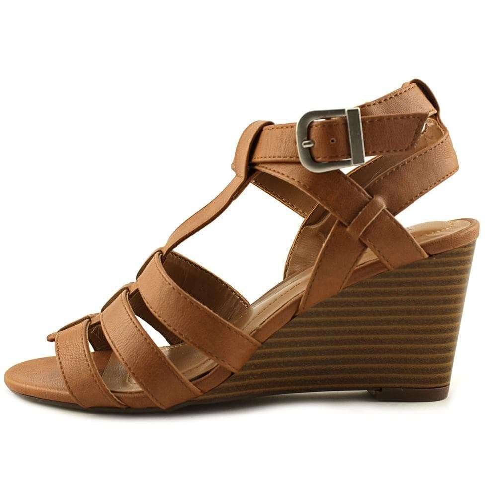 Style & Co. Womens Haydar Open Toe Casual Platform Sandals, Coffee, Size 9.5