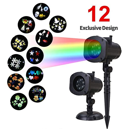 Waterproof Finmind Halloween Christmas Projector Lights ...