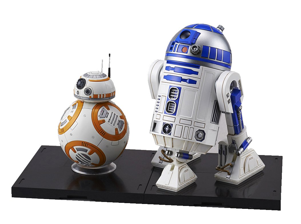 Bandai Hobby Star Wars 1/12 Plastic Model BB-8 & R2-D2