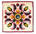 Candamar Designs Country Floral Quick Point Needlepoint Pillow Kit, 14 x 14""