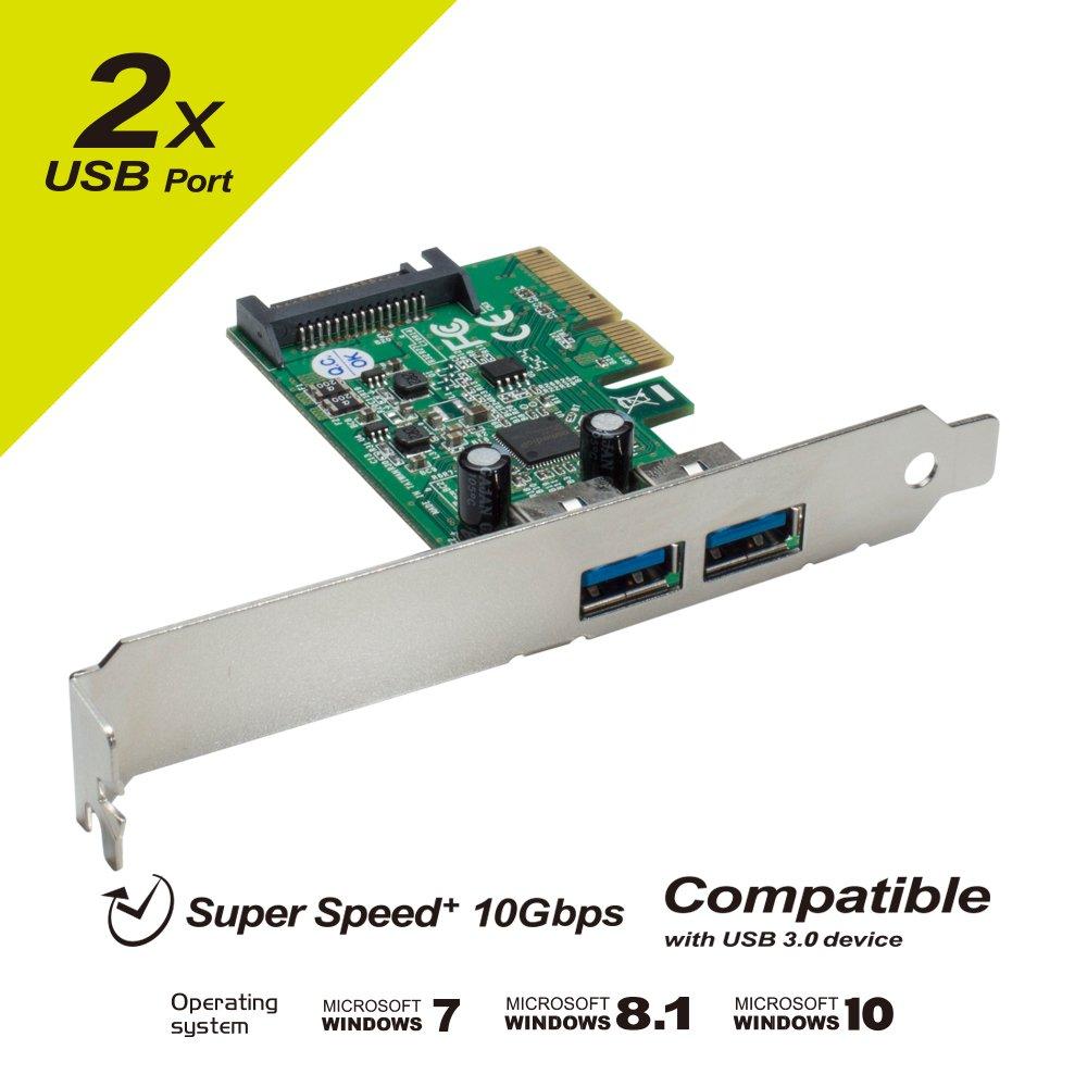Mediasonic HP1-U34F 4 Ports External USB 3.0 PCI Express Card