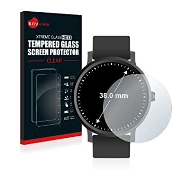 savvies Cristal Templado Compatible con Relojes (Circular ...
