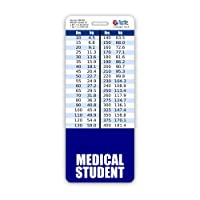 Medical Student Badge Buddy Vertical w/Height & Weight Conversion Charts (Oversized, Navy)